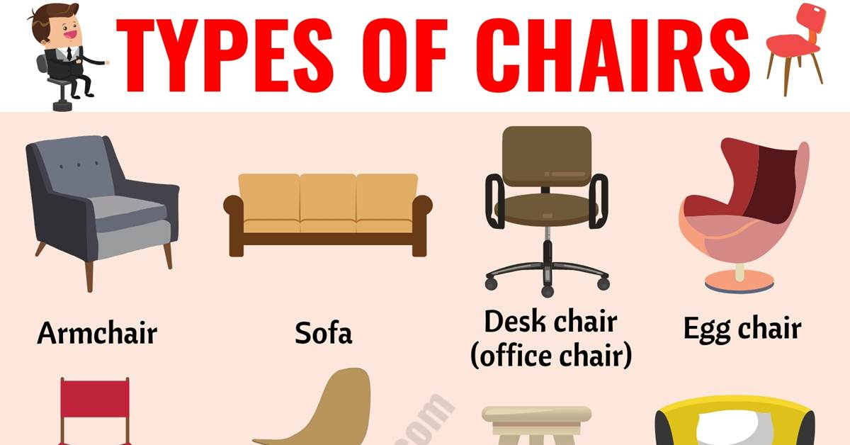 Types Of Chairs 25 Diffe Chair