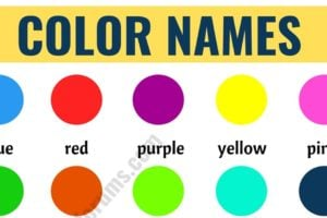 Color Names: List of Colors in English with the Picture! 10