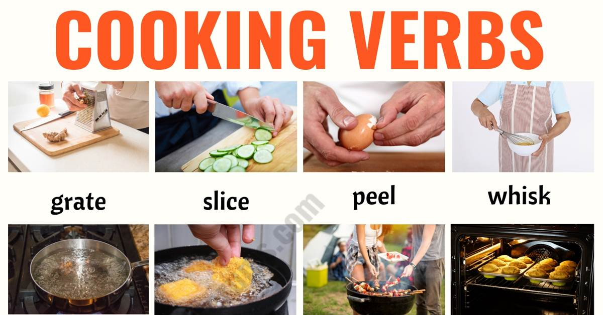Cooking Terms: List of 20+ Useful Cooking Verbs in English 1
