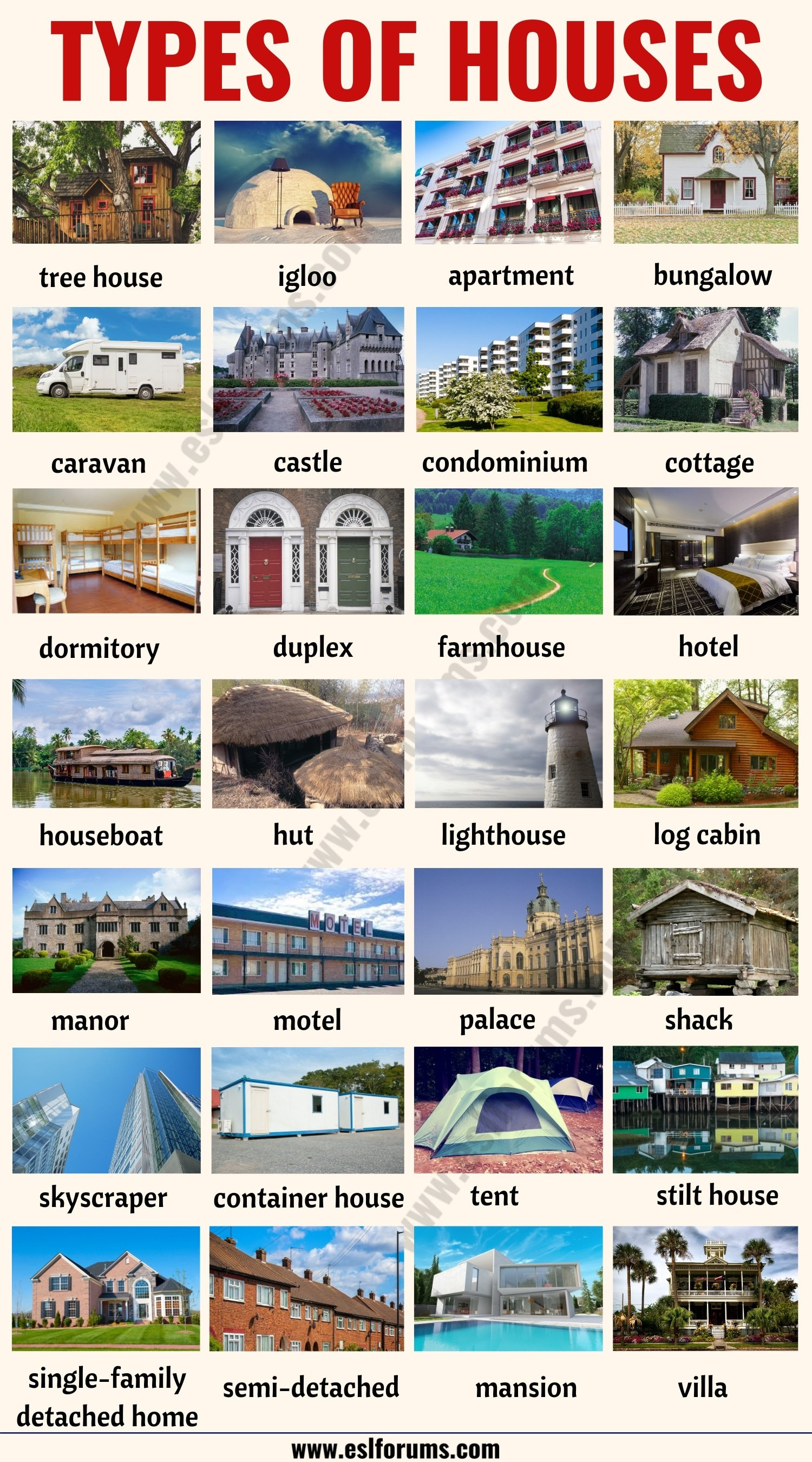 House Styles: List of 28 Different Types of Houses Around the World!