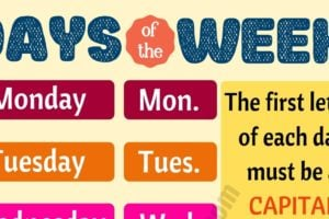 Fun Facts about 7 Days of the Week You Might not Know! 9