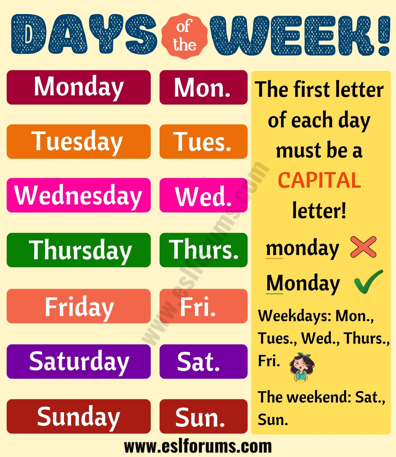 Fun Facts about 7 Days of the Week You Might not Know!