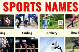 List of Sports: 35+ Useful Names of Sports and Games in English 14