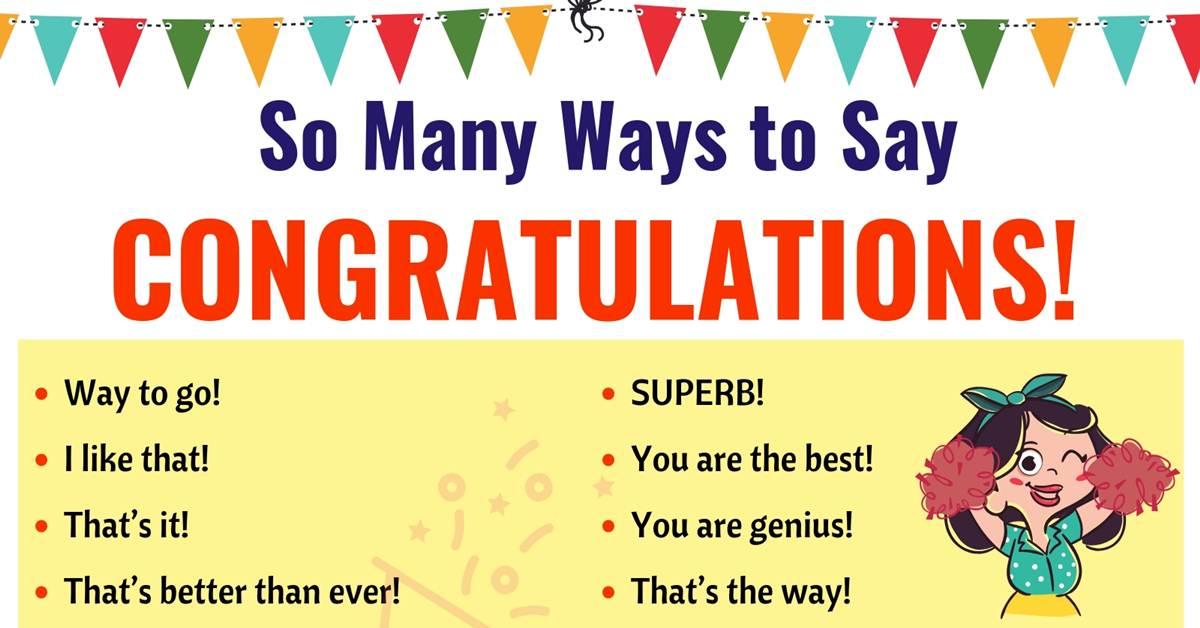 Congratulations | List of 40 Interesting Ways to Say Congratulations! 2