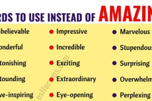 AMAZING Synonym: List of 36 Synonyms for Amazing with Examples 8