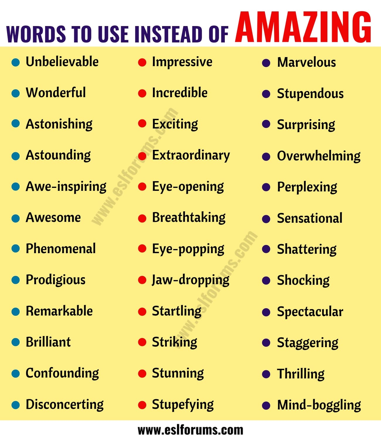 AMAZING Synonym: List of 36 Synonyms for Amazing with Examples