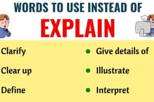 EXPLAIN Synonym: List of 18 Synonyms for Explain with Useful Examples 9