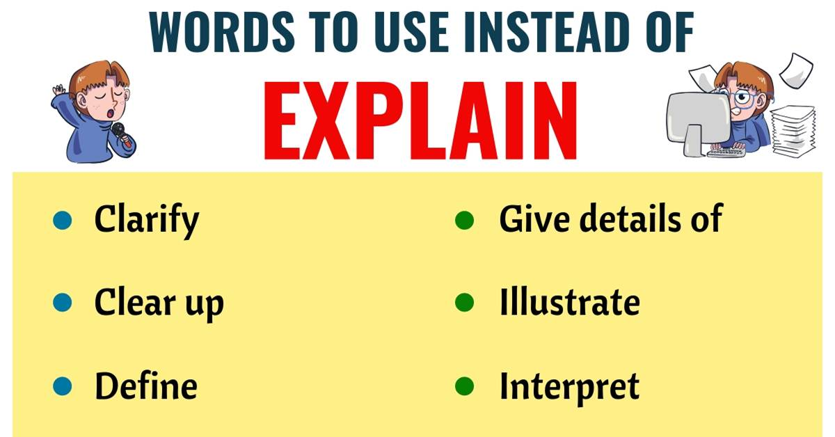 EXPLAIN Synonym: List of 18 Synonyms for Explain with Useful Examples 1