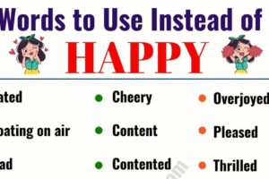 HAPPY Synonym: List of 29 Synonyms for Happy in English 10