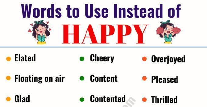 HAPPY Synonym: List of 29 Synonyms for Happy in English 1