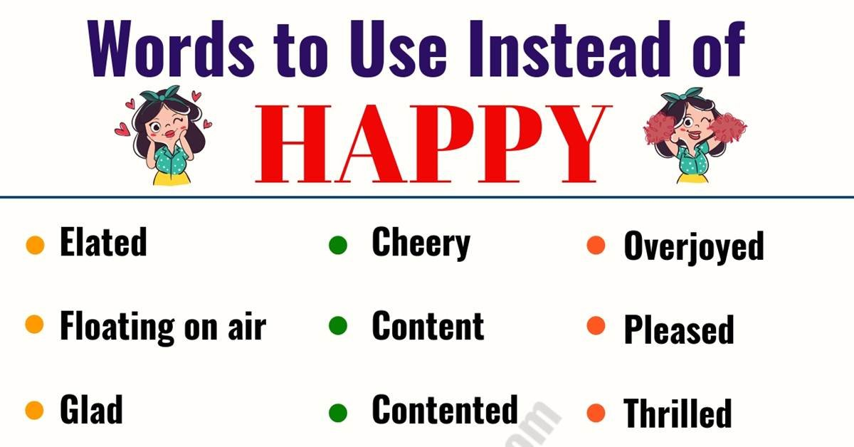 HAPPY Synonym: List of 29 Synonyms for Happy in English 4