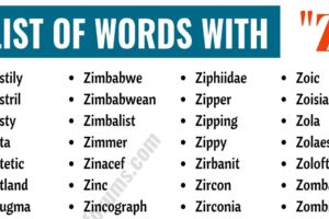 Words That Start with Z | Useful List of 300 Words with Z 4