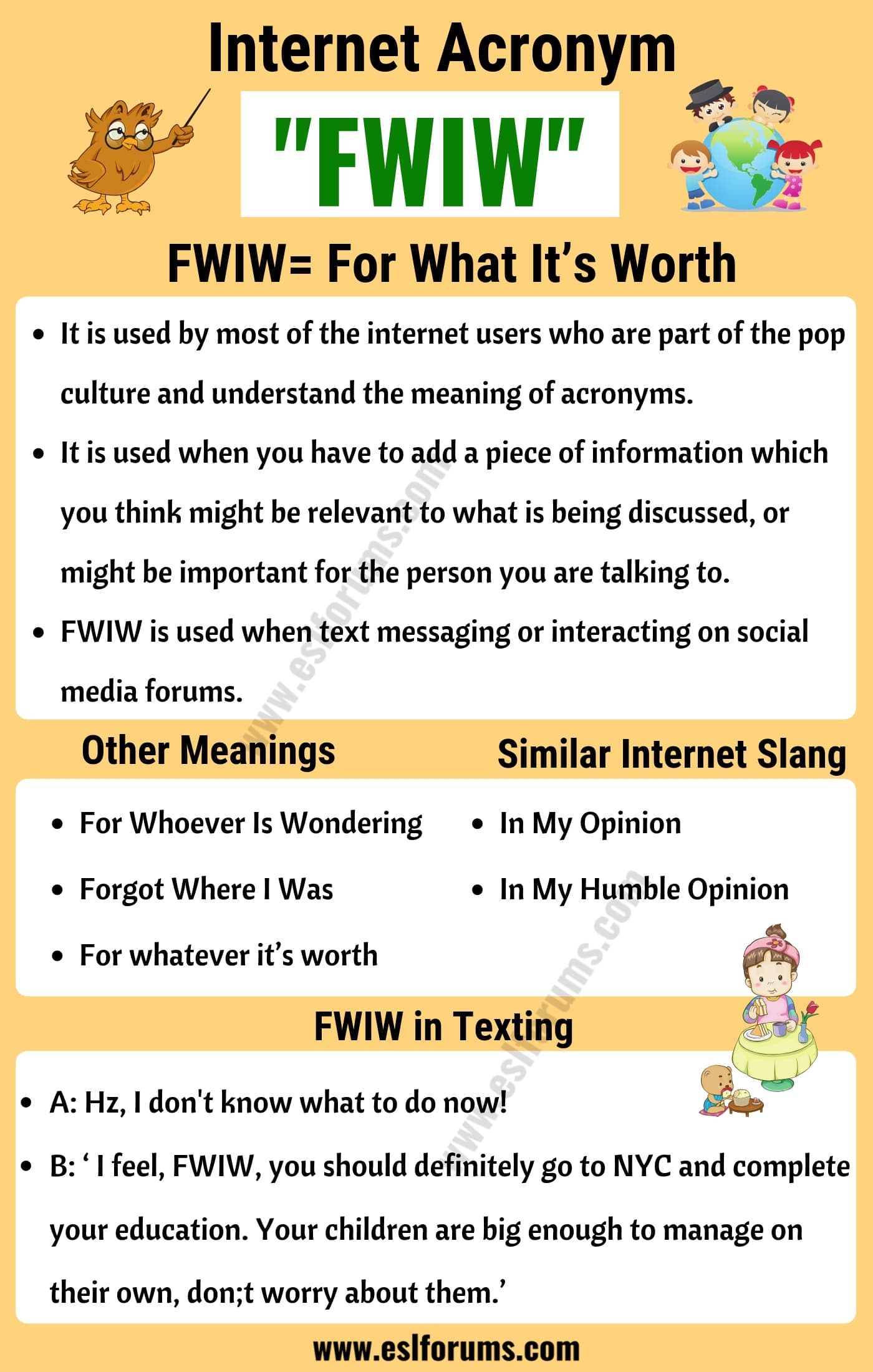 FWIW Meaning | What Does FWIW Stand For?