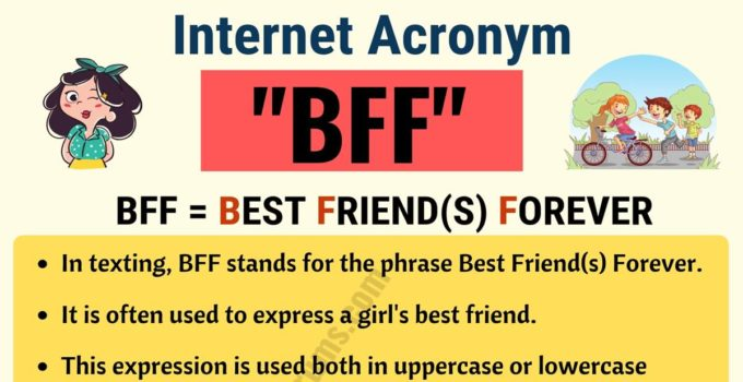 BFF: What Does BFF Stand For in Texting? (with Useful Examples) 3