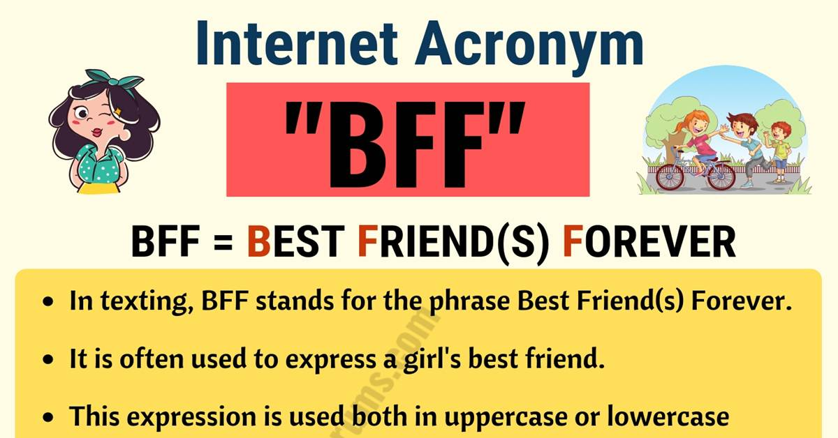 BFF: What Does BFF Stand For in Texting? (with Useful Examples) 1