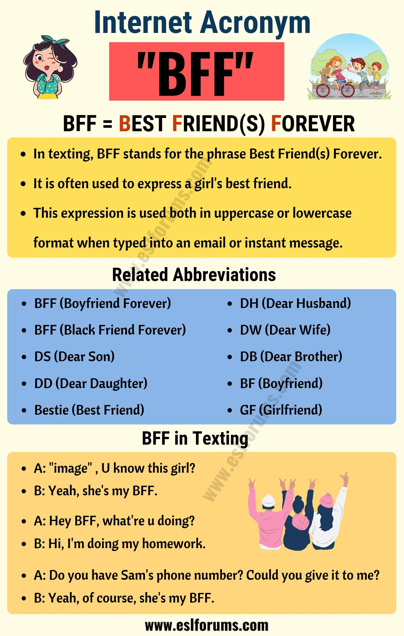 BFF: What Does BFF Stand For in Texting? (with Useful Examples)
