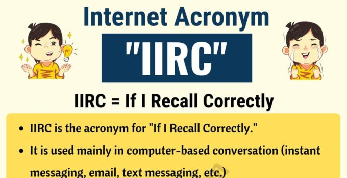 IIRC Meaning: Do You Know the Meaning of IIRC? Useful Examples 1