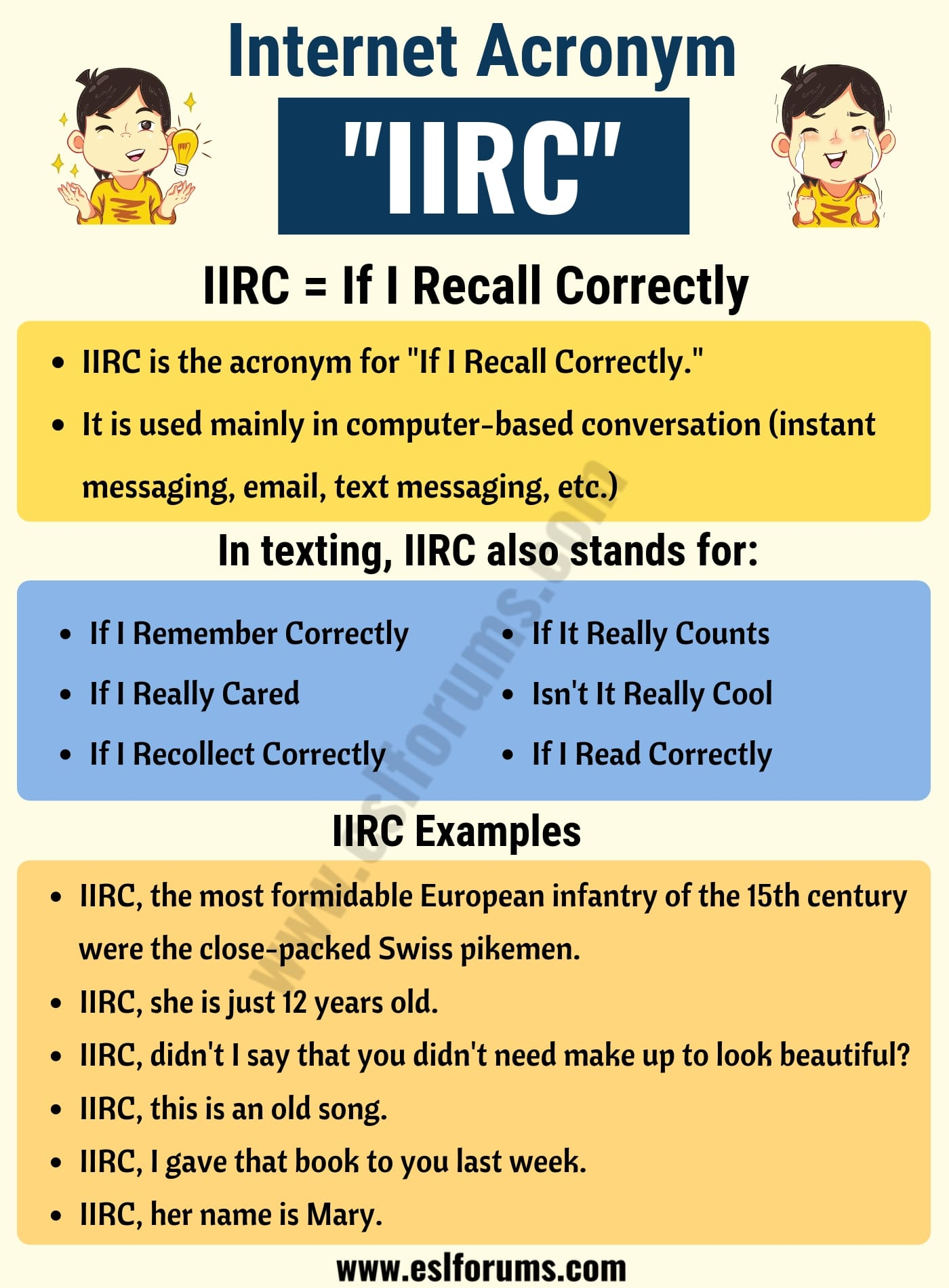 IIRC Meaning: Do You Know the Meaning of IIRC ? Useful Examples