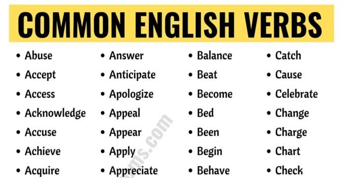 List of Verbs: Learn 600+ Common Verbs in English with ESL Pictures 4