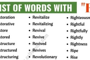 Words that Start with R | List of 200 Words Starting with R in English 5