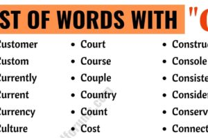 Words that Start with C | List of 150 Words Starting with S in English 11
