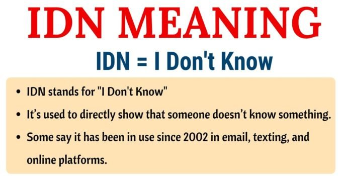 IDN Meaning: What Does IDN Stand for? (with Useful Examples) 3