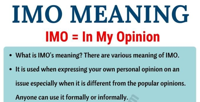 IMO Meaning: What Does IMO Mean? Useful Examples 2