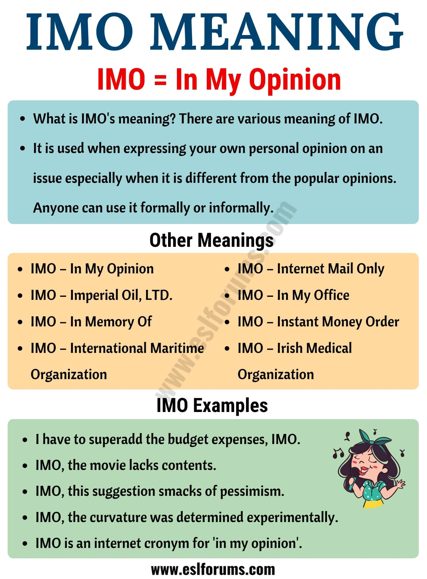 IMO Meaning: What Does IMO Mean? Useful Examples