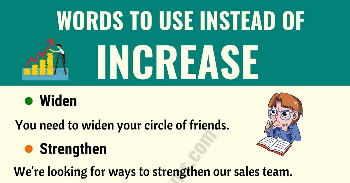 INCREASE Synonym: List of 15 Synonyms for Increase with Examples 2