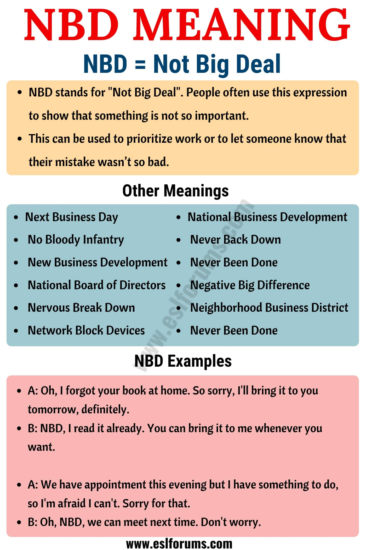 NBD Meaning: What Does NBD Stand For? Useful Examples