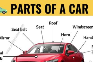 Parts of a Car: Learn Different Parts of a Car with ESL Picture! 10