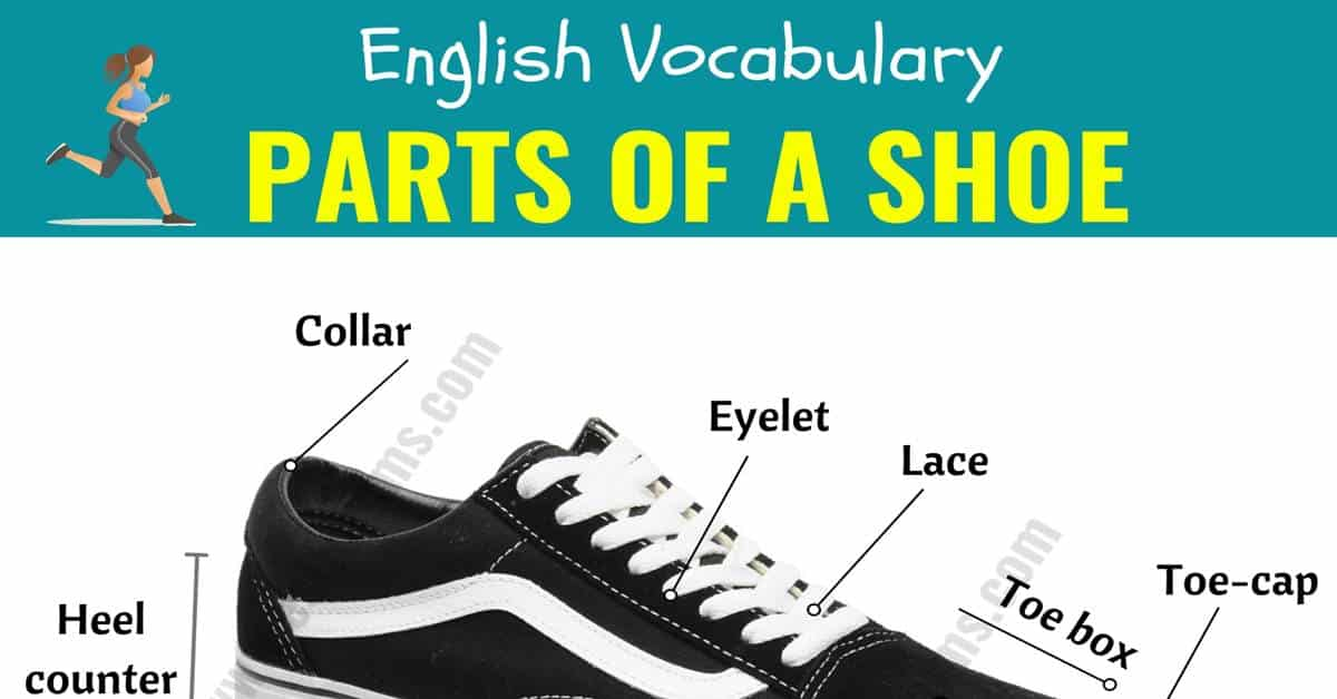 Parts of A Shoe: Different Parts of a Shoe with ESL Picture! 1