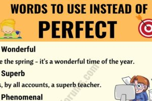 PERFECT Synonym: List of 22 Synonyms for Perfect with Useful Examples 9