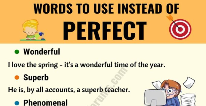 PERFECT Synonym: List of 22 Synonyms for Perfect with Useful Examples 2
