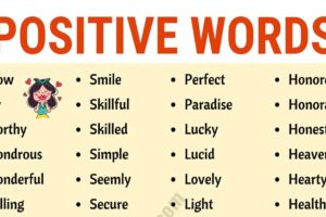 Top 200+ Positive Words to Inspire Your Day! 10