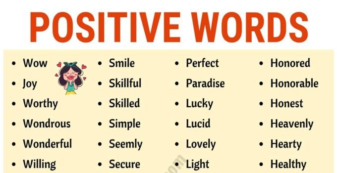 Top 200+ Positive Words to Inspire Your Day! 1
