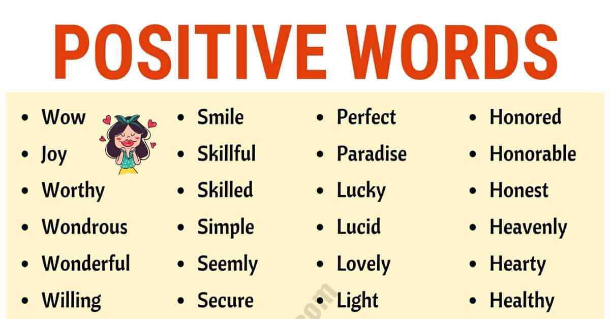 What are Positive Words? Top 200+ Positive Words to Inspire Your Day! 1