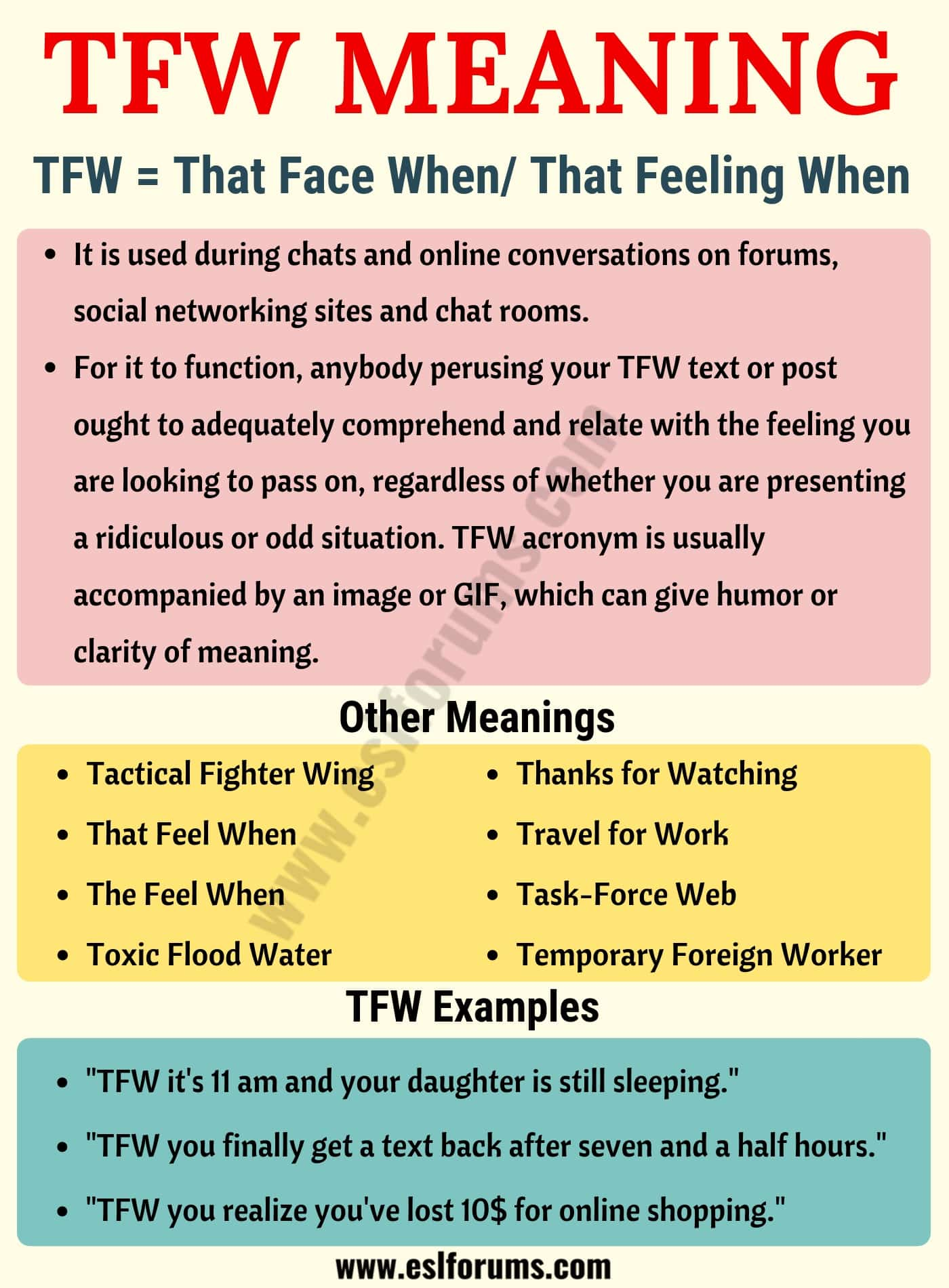 TFW Meaning: What Does TFW Mean? Useful Examples