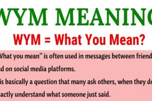 WYM Meaning: What Does WYM Mean in Texting? Useful Examples 4