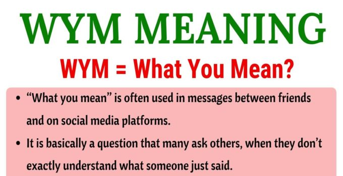 WYM Meaning: What Does WYM Mean in Texting? Useful Examples 1