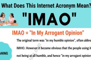 "IMAO Meaning: How to Use the Trendy Term ""IMAO"" Correctly? 9"