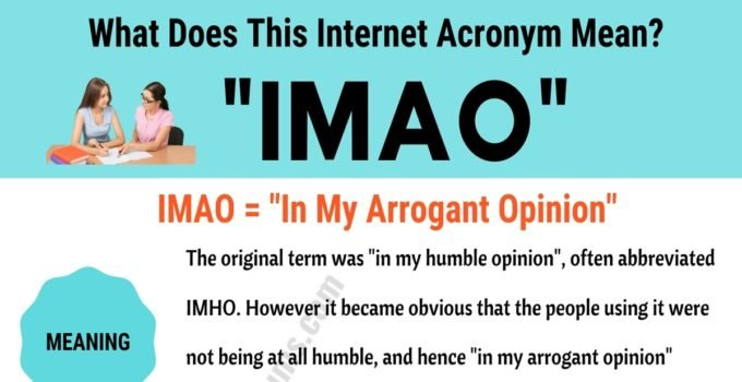 "IMAO Meaning: How to Use the Trendy Term ""IMAO"" Correctly? 1"
