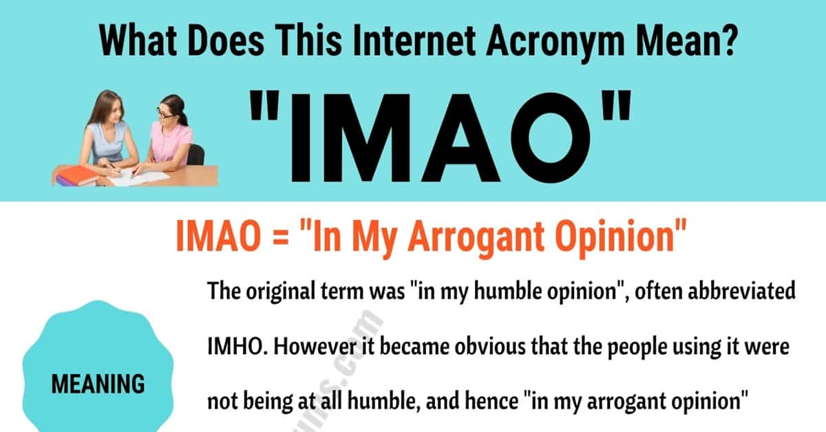 "IMAO Meaning: How to Use the Trendy Term ""IMAO"" Correctly? 1"