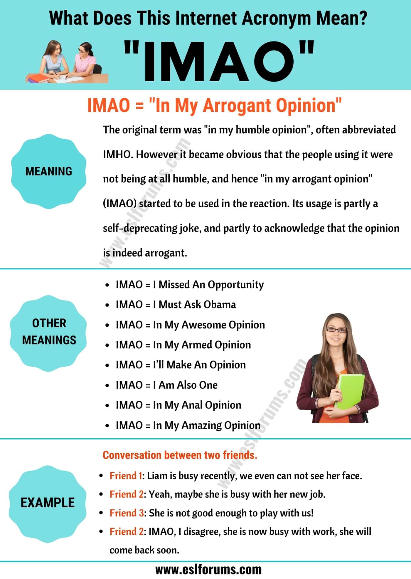 "IMAO Meaning: How to Use the Trendy Term ""IMAO"" Correctly?"