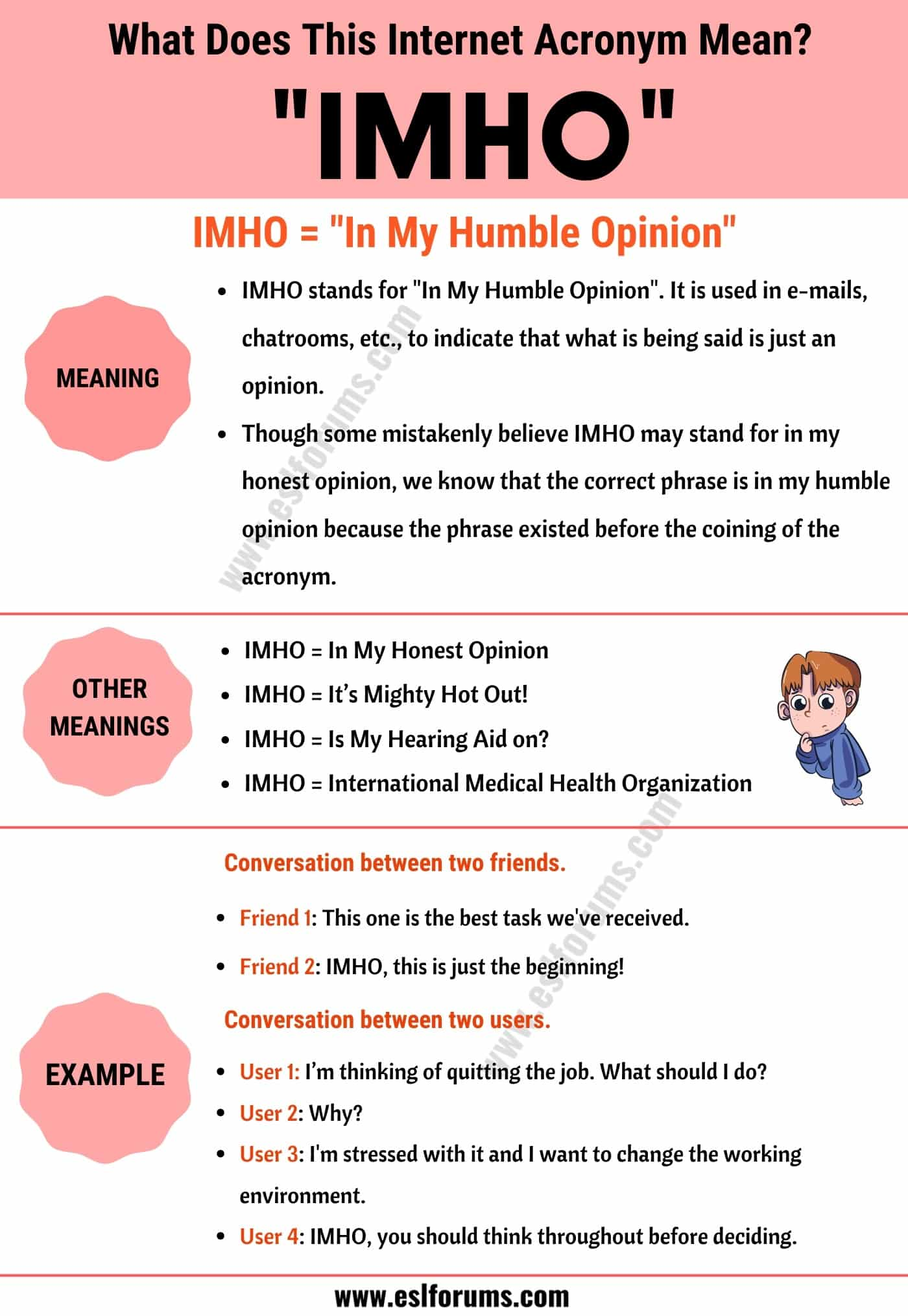 """IMHO Meaning: The Meaning and Examples of Useful Acronym """"IMHO"""""""