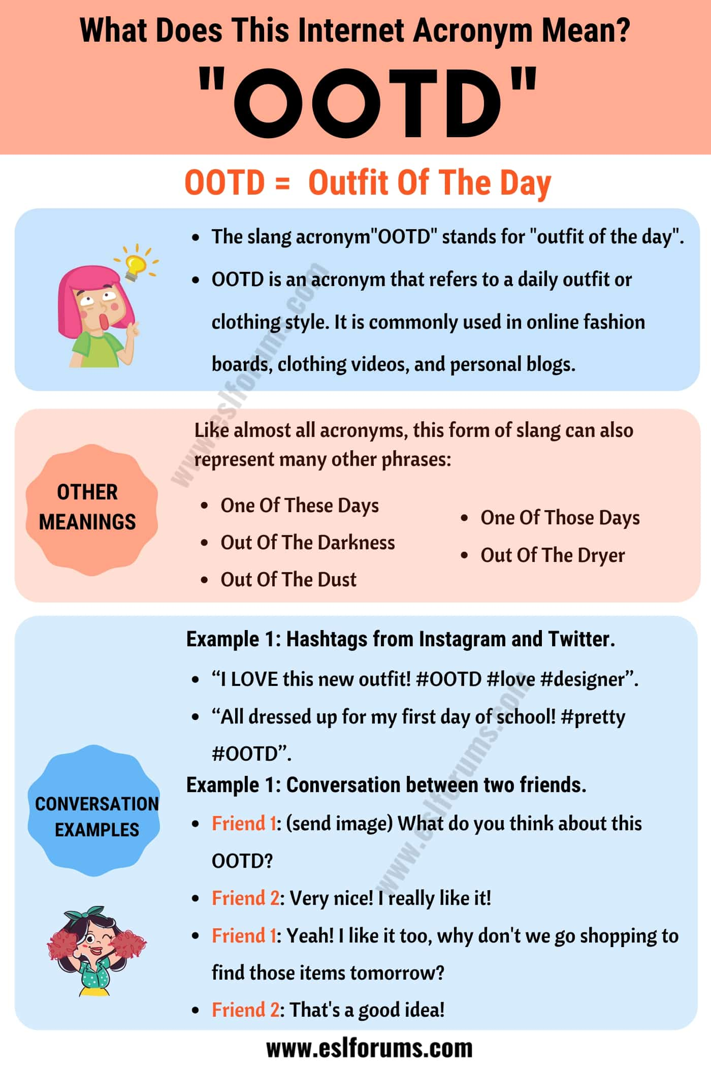 """OOTD Meaning: What Does the Trendy Term """"OOTD"""" Mean and Stand For?"""