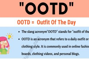 "OOTD Meaning: What Does the Trendy Term ""OOTD"" Mean and Stand For? 13"