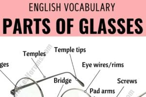 Parts of Glasses: Different Parts of Glasses with ESL Picture! 11
