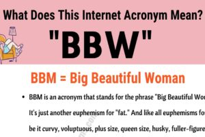 """BBW Meaning: What Does the Acronym """"BBW"""" Actually Mean and Stand For? 2"""