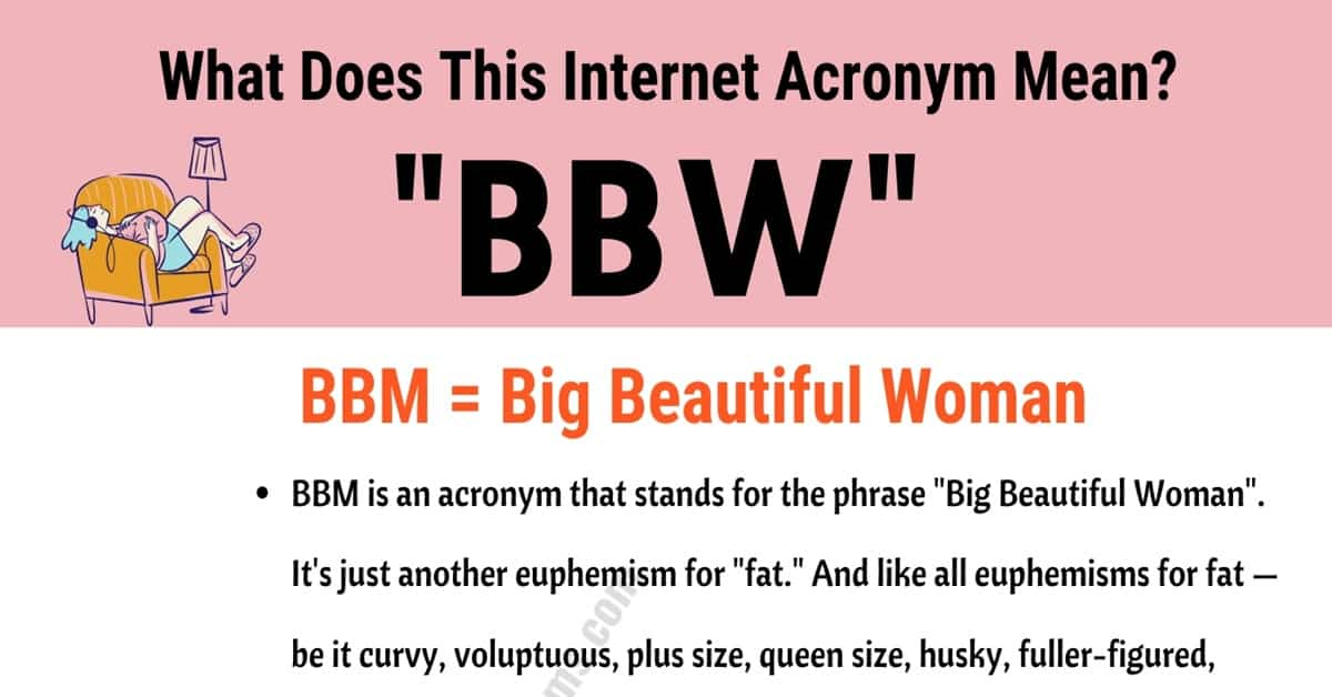"BBW Meaning: What Does the Acronym ""BBW"" Actually Mean and Stand For? 2"